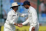 Sachin Tendulkar and Pragyan Ojha
