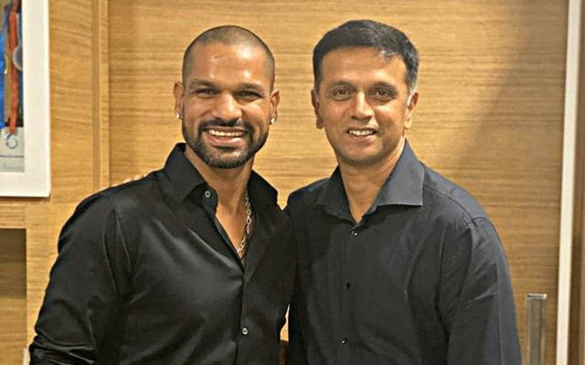 Shikhar Dhawan and Rahul Dravid