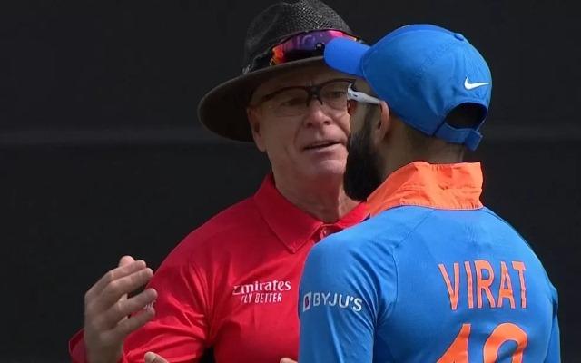 Virat Kohli and Bruce Oxenford