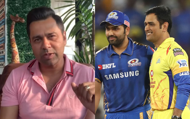 Aakash Chopra, Rohit Sharma and MS Dhoni