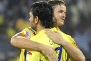 Albie Morkel and MS Dhoni
