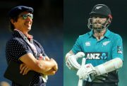 Brad Hogg and Kane Williamson