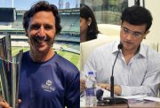 Brad Hogg and Sourav Ganguly