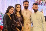 Cheteshwar Pujara, Jaydev Unadkat, Rinny and Puja Pabari