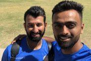 Cheteshwar Pujara and Jaydev Unadkat