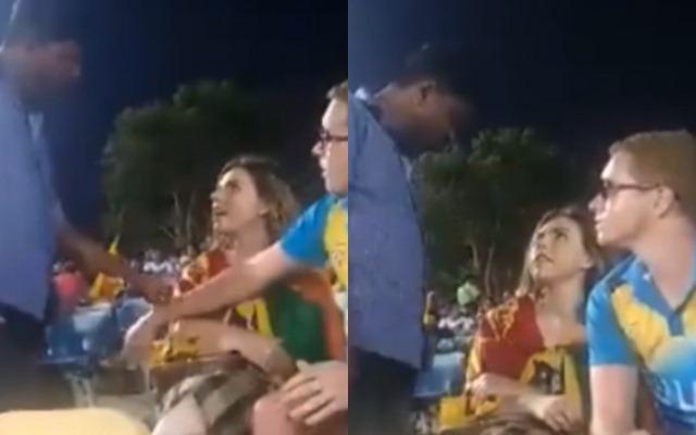 Fan harassed in Sri Lanka