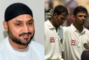 Harbhajan Singh, VVS Laxman and Rahul Dravid