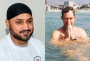 Harbhajan Singh and Jonty Rhodes