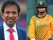 Harsha Bhogle and Dane van Niekerk