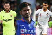 Lionel Messi, Shreyas Iyer & Cristiano Ronaldo