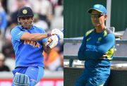 MS Dhoni and Justin Langer