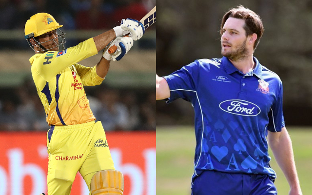 MS Dhoni and Mitchell McClenaghan