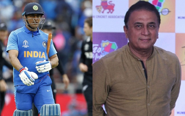 MS Dhoni and Sunil Gavaskar