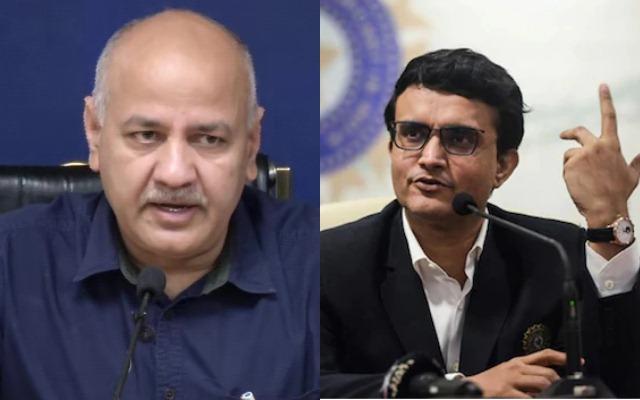 Manish Sisodia and Sourav Ganguly