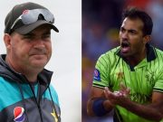 Mickey Arthur and Wahab Riaz