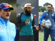 Ravi Shastri, Misbah-ul-Haq and Mark Boucher