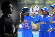 Sachin Tendulkar and India women's team