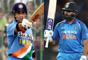 Sachin Tendulkar and Rohit Sharma