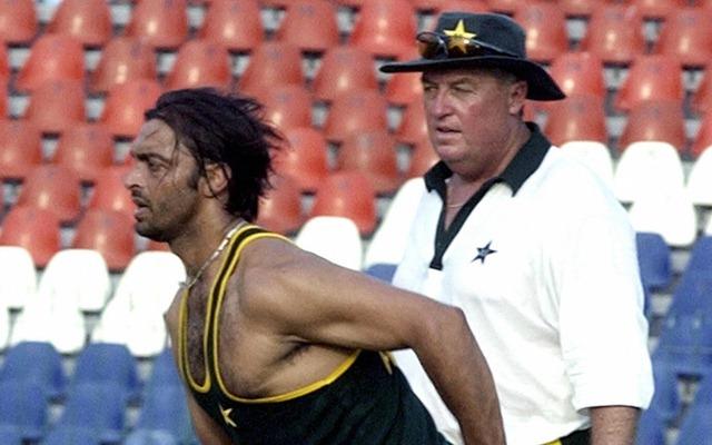 Shoaib Akhtar and Bob Woolmer