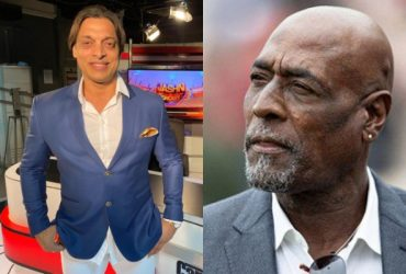 Shoaib Akhtar and Sir Vivian Richards