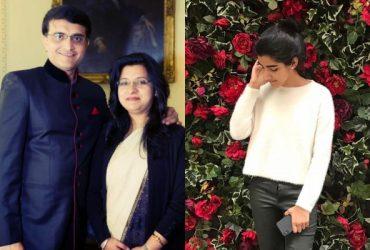 Sourav Ganguly, Dona Ganguly and Sana Ganguly