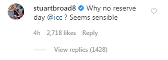 Stuart Broad's comment