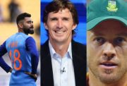 Virat Kohli, Brad Hogg and AB de Villiers