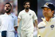 Virat Kohli, Ishant Sharma and Sachin Tendulkar