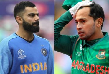 Virat Kohli and Mushfiqur Rahim