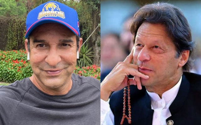 Wasim Akram and Imran Khan
