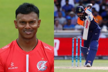 shivnarine Chanderpaul and Virat Kohli