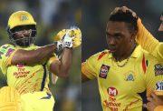 Ambati Rayudu and Dwayne Bravo
