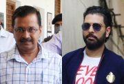 Arvind Kejriwal and Yuvraj Singh