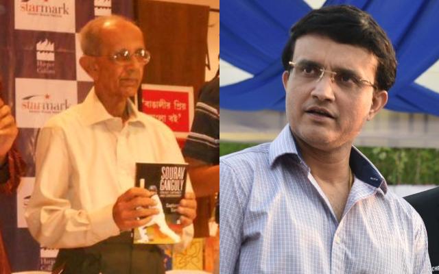 Ashok Mustafi and Sourav Ganguly