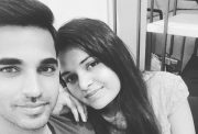 Bhuvneshwar Kumar and his wife Nupur Nagar