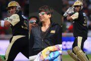 Brendon McCullum, Sharukh Khan and Sourav Ganguly