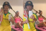 David Warner and his wife Candice