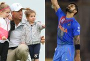 David Warner,Ivy-Mae, Indi-Rae and Virat Kohli