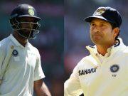 Hanuma Vihari and Sachin Tendulkar