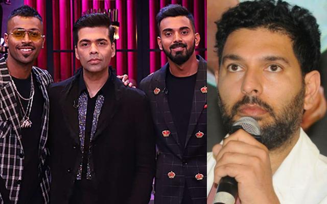 Hardik Pandya, Karan Johar, KL Rahul and Yuvraj Singh