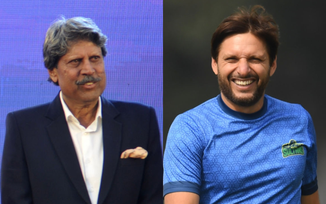 Kapil Dev and Shahid Afridi