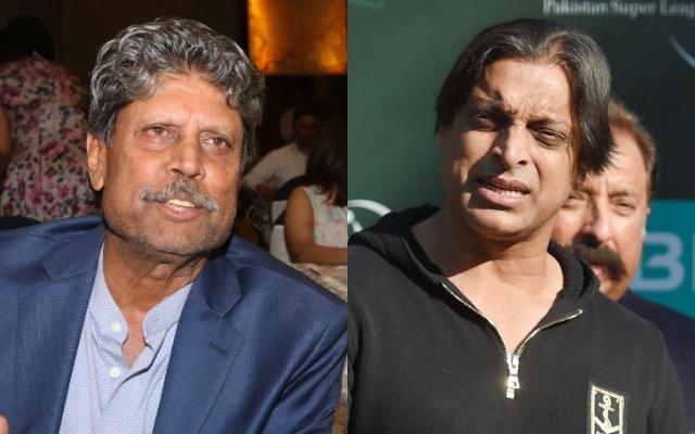 Kapil Dev and Shoaib Akhtar