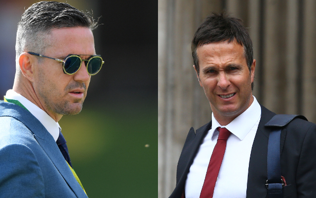 Kevin Pieterson and Michael Vaughan