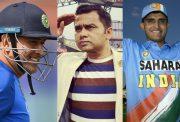 MS Dhoni, Aakash Chopra and Sourav Ganguly