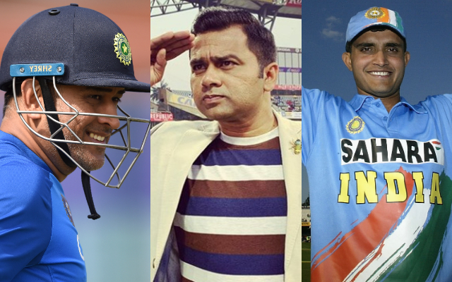 MS Dhoni, Aakash Chopra and Sourav Ganguly