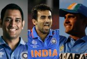 MS Dhoni, Zaheer Khan and Sourav Ganguly