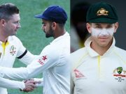 Michael Clarke, Virat Kohli and Tim Paine