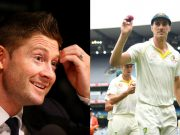 Michael Clarke and Pat Cummins