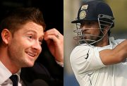 Michael Clarke and Sachin Tendulkar