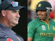 Mickey Arthur and Umar Akmal